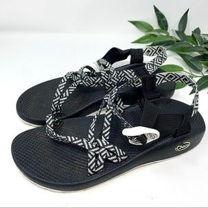 Chaco ZX1 Double Strap Sport Sandal Black White 11